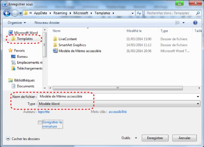 Modèles accessibles Microsoft Word 2010